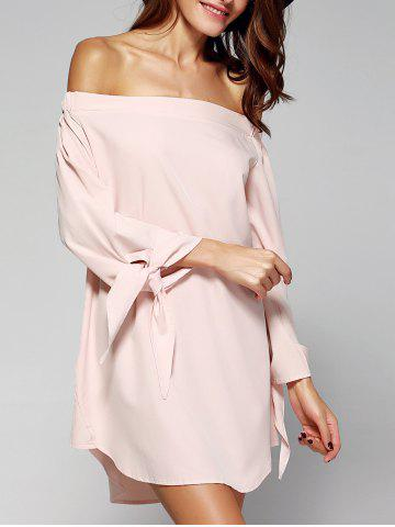 Chic Sweet Women's Off-The-Shoulder Bowknot Loose Dress