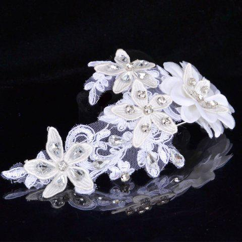 New Graceful Floral Wedding Jewelry Hairband For Women - WHITE  Mobile