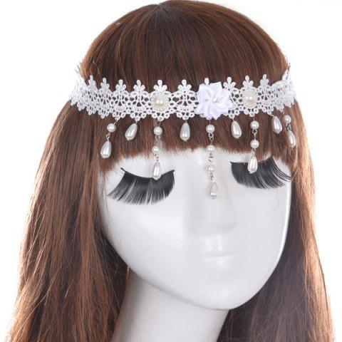 Affordable Gorgeous Faux Pearl Forehead Chain For Women