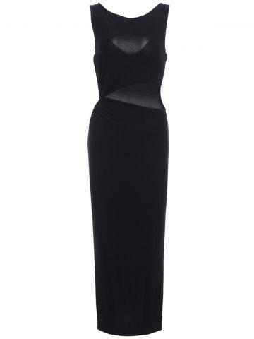 Outfits Chic Women's Hollow Out Side Slit Black Dress