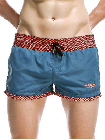 Outfit Casual Drawstring Waistband Loose Boxer Shorts - BLUE M Mobile