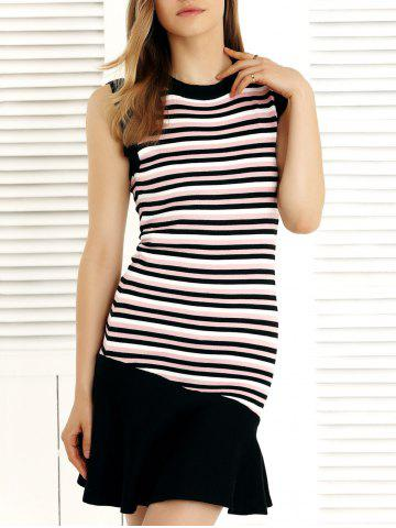 Outfits Fashionable Striped Fishtail Splicing Dress