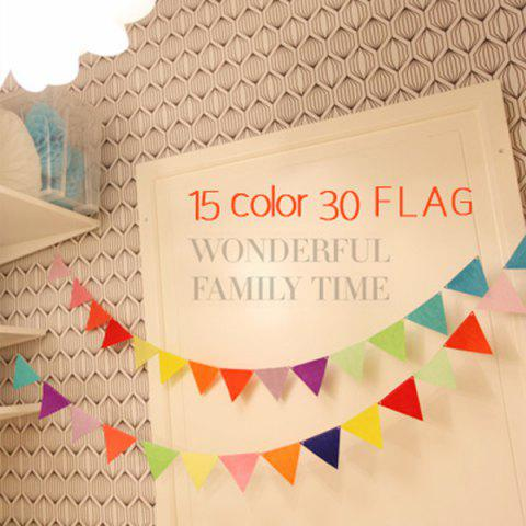 Discount Stylish Home School Decor Colorful  Pennants Party Supplies