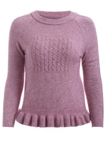 Affordable Cute Flounce Hem Guipure Sweater For Women