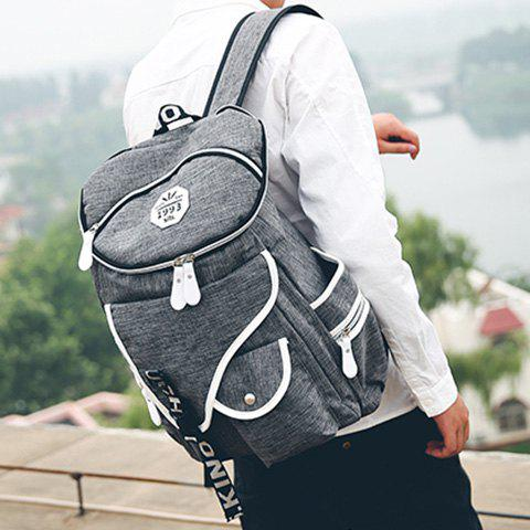 Cheap Casual Zippers and Pockets Design Backpack For Men - GRAY  Mobile
