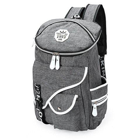 Latest Casual Zippers and Pockets Design Backpack For Men - GRAY  Mobile