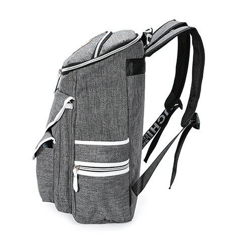 Affordable Casual Zippers and Pockets Design Backpack For Men - GRAY  Mobile