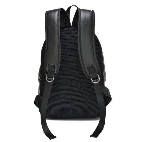 Outfits Stylish Solid Colour and Zippers Design Backpack For Men - BLACK  Mobile