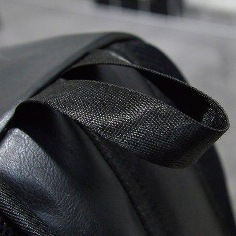 Best Stylish Solid Colour and Zippers Design Backpack For Men - BLACK  Mobile