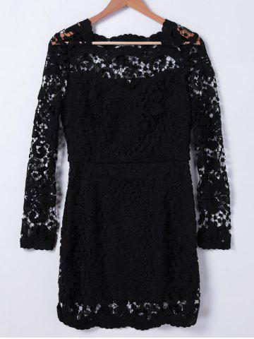 Online Rippled Edge Lace Dress