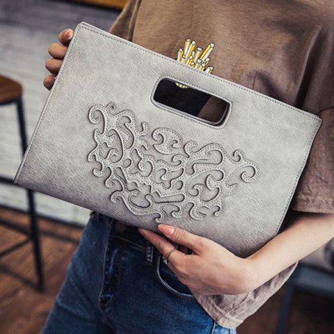Chic Fashionable Magnetic Closure and Stitching Design Tote Bag For Women GRAY