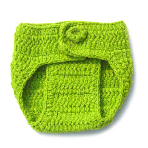 Store Handwork Crochet Photography Clothes Set For Baby - GREEN  Mobile