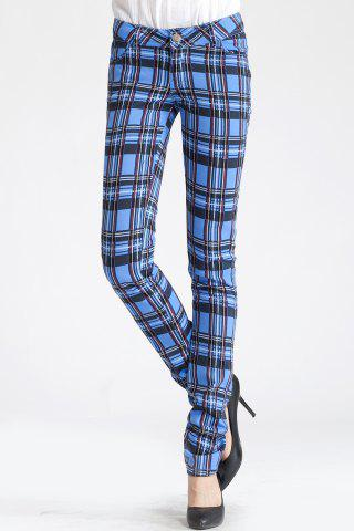 Discount Plaid Pencil Pants
