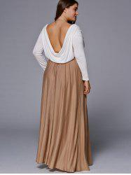 Chic Long Sleeve Plus Size Maxi Dress -