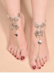 Vintage Water Drop Sequins Toe Ring Anklet -