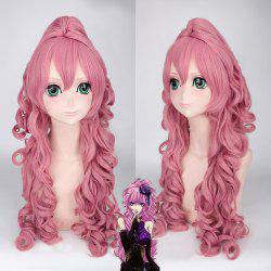 Fluffy Curly Light Pink Synthetic Vocaloid Luka and Ruka Dargon Style Cosplay Wig