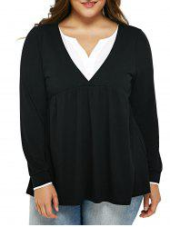 Plus Size Empire Waist Smock T-Shirt