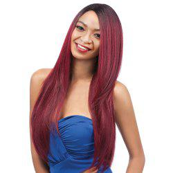 Long Elegant Side Parting Straight Ombre Color Women's Synthetic Hair Wig