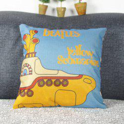 Chic Quality Cute Mouldproof Cartoon Submarine Pattern Pillow Case