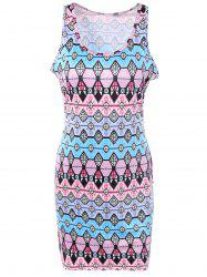 Casual Geometric Print Sheath Dress -