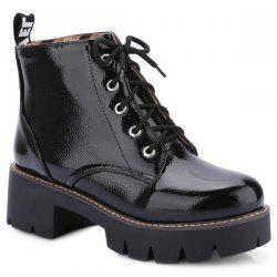 Eyelets Platform Lace Up Ankle Boots