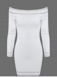 Off Shoulder Mini Long Sleeve Cocktail Dress