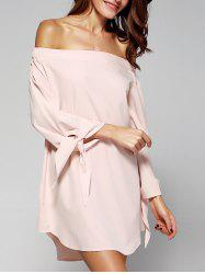 Sweet Women's Off-The-Shoulder Bowknot Loose Dress -