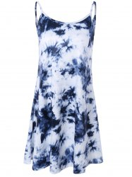 Tie Dye Summer Slip Dress - DEEP BLUE