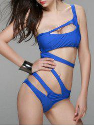 Attractive Pure Color Bandage Swimwear For Women