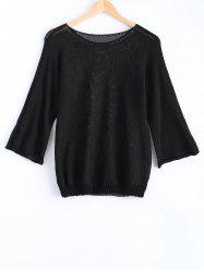 Long Sleeves Round Neck Candy Color Sweater -