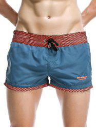 Casual Drawstring Waistband Loose Boxer Shorts - BLUE
