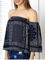 Bohemian Off-The-Shoulder Crop Top -