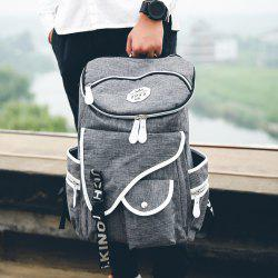 Casual Zippers and Pockets Design Backpack For Men - GRAY