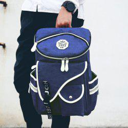 Casual Zippers and Pockets Design Backpack For Men