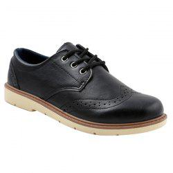 Trendy Breathable and Lace-Up Design Formal Shoes For Men -