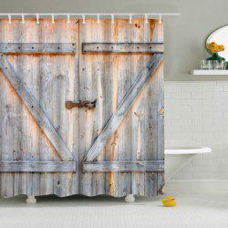 Vintage Eco-Friendly Dream Wood Door Shower Curtain For Bathroom - COLORMIX