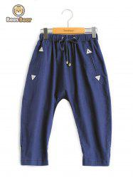 Girl's Drawstring Triangle Design Pants -