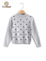 Elephant Pattern Pullover Sweater -