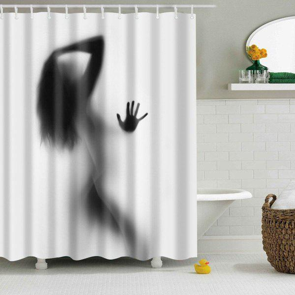 Chic Eco Friendly Charming Figure Printing Shower Curtain For Bathroom