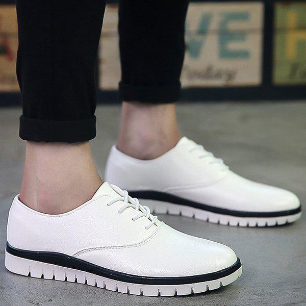 Chic Simple Round Toe and Lace-Up Design Casual Shoes For Men
