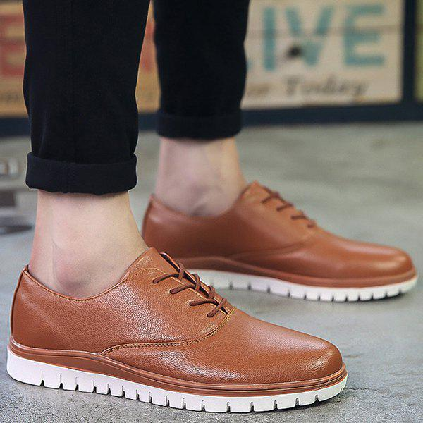 Fashion Simple Round Toe and Lace-Up Design Casual Shoes For Men