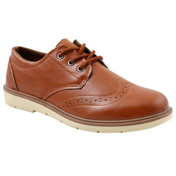 Discount Trendy Breathable and Lace-Up Design Formal Shoes For Men