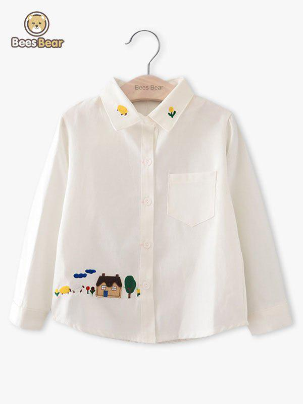 Fancy Cute Embroidery Design Long Sleeve Shirt