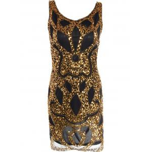 Mesh Sequin Club Glitter Prom Dress
