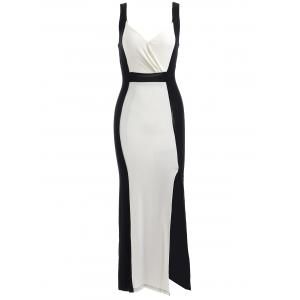 Two Tone Bodycon Midi Formal Dress