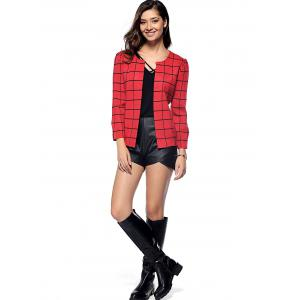 Preppy Style Plaid All-Matched Jacket -