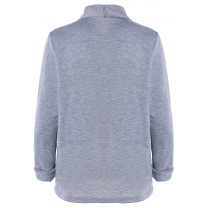 Brief Single Button Wrap Sweatershirt For Women -