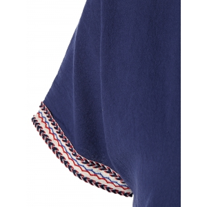 Ethnic Embroidered Drawstring Dress For Women -