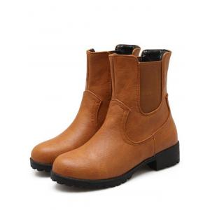 Concise Solid Color and Elastic Band Design Short Boots For Women -