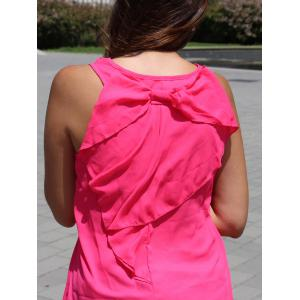 Stylish Scoop Neck Bowknot Design Women's Tank Top -